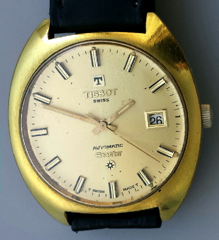Tissot sea star 24 jewel automatic wristwatch with date feature 1973c for Celebrity tissot watches