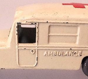Matchbox 1.75 Reg # 14b - Daimler Ambulance 58mm Cream