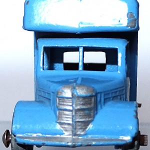 Matchbox 1.75 Reg # 17a - Bedford Matchbox Removals Service - Lt Blue (1)