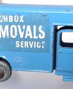 Matchbox 1.75 Reg # 17a - Bedford Matchbox Removals Service - Lt Blue (3)