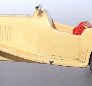 Matchbox 1.75 Reg # 19a - Triump TD sports car -cream . no driver