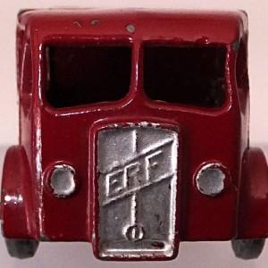 Matchbox 1.75 Reg # 20b ERF Stake Truck -57mm - maroon  silver trim (1)