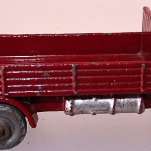 Matchbox 1.75 Reg # 20b ERF Stake Truck -57mm - maroon  silver trim (2)
