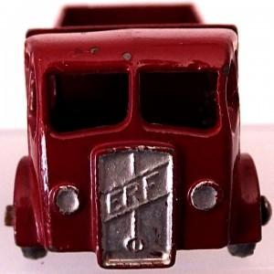Matchbox 1.75 Reg # 20b ERF Stake Truck -57mm - maroon  silver trim (9)