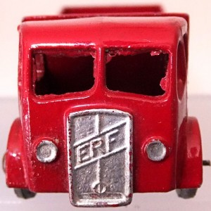 Matchbox 1.75 Reg # 20b ERF Stake Truck -57mm -red silver trim (2)