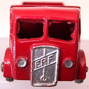 Matchbox 1.75 Reg # 20b ERF Stake Truck -57mm -red silver trim (4)
