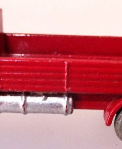 Matchbox 1.75 Reg # 20b ERF Stake Truck -57mm -red silver trim (5)