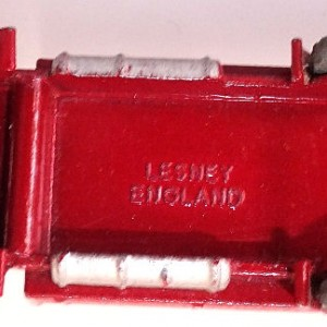 Matchbox 1.75 Reg # 20b ERF Stake Truck -57mm -red silver trim (7)