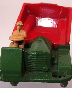 Matchbox 1.75 Reg # 2a - Muir Hill Dumper - ManuFacturing Error -Bucket reversed - 45mm (2)