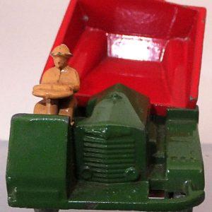 Matchbox 1.75 Reg # 2a - Muir Hill Dumper - ManuFacturing Error -Bucket reversed - 45mm (2)