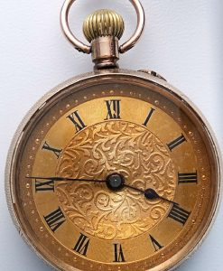 L636.11 - 9ct Gold Fobwatch 1909c