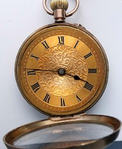 L636.11 - 9ct Gold Fobwatch 1909c (7)
