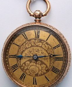 L636.4 - 14ct Gold Swiss Lepine Calibre Fobwatch