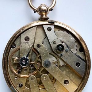 L636.6 - 18ct Gold Swiss Lepine - 1875c (15)