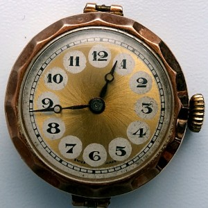 L636.7 - 9ct Gold Telephone Style Wristwatch (1)