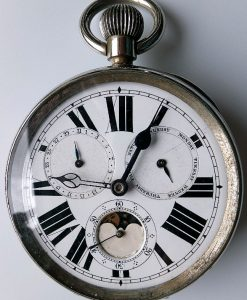 L641 - Stauffer Son & Co.The Atlas Watch Complication in a Silver Desk Case (22)