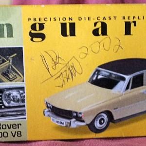 W726-26.1  Corgi Vanguards VA06500 Rover 3.5 litre . Almond