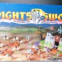 Jul 235.13  - Britains Knight of the Sword No. 7787  Catapult with 4 Silver Knights (1)