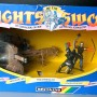 Jul 235.13  - Britains Knight of the Sword No. 7787  Catapult with 4 Silver Knights
