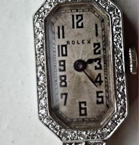 L644 - Rolex 18ct Gold Diamond Set Watch -Prima Movement -1924c (17)