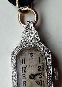 L644 - Rolex 18ct Gold Diamond Set Watch -Prima Movement -1924c (18)