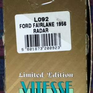 W273-1.2  - Vitesse L092  Ford Fairlane 1956 Radar -Black n White  (11)