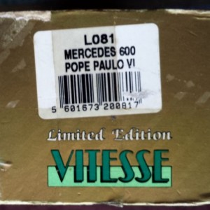 W874 -37.2 . Vitesse L081 Mercedes 600 Pope Paul V1 (9)