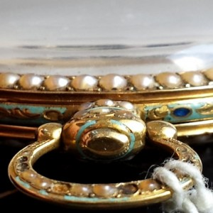 307 D - Coirvoisier Pearl Set Gold nd Enamle Duplex (3)