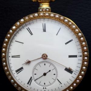 307 D - Coirvoisier Pearl Set Gold nd Enamle Duplex (7)