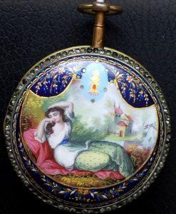 289 D - Diamond Set & Enamel Verge - Freres de Rochas  - 1775c (14)