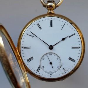 437 D - 18ct Gold & Enamel - Fritz Piguet Geneve  (2)